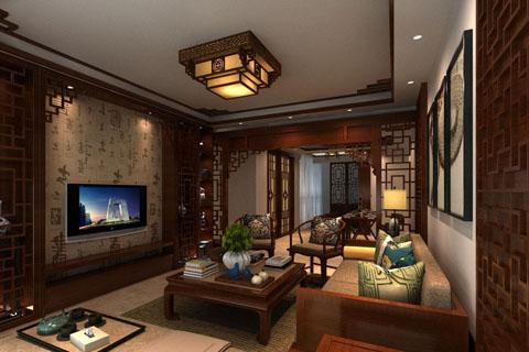 广西豪华别墅大气的中式风格别墅装修效果图