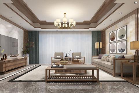 现代装修设计新中式风格别墅装修效果图