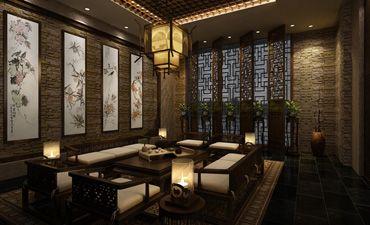烟台茶楼中式装修,不仅优雅更体现和谐美