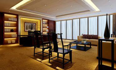 现代办公室装修设计,讲究简约典雅的中式气韵