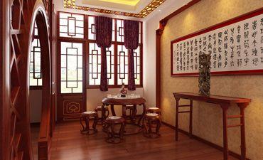 山西太原办公室中式装修,古朴典雅中透出时尚风情