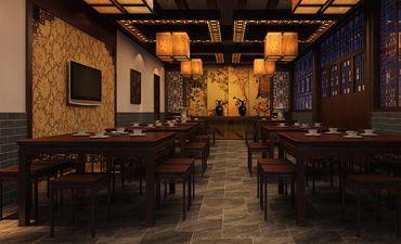平遥中式酒店装修效果图,渗透着浓浓的古韵