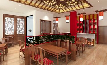 新中式餐厅设计案例,唯美雅致的别样风韵