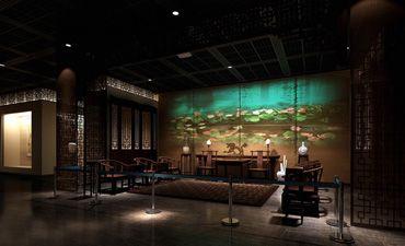 古典风格展厅设计效果图,感受至清至纯的文化气氛