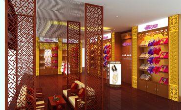 内衣店展厅中式设计,既古典又时尚的店面环境