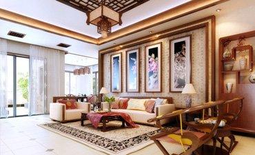中式风格复式楼装修,让华丽优雅的气势彰显殆尽
