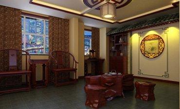 现代复式楼中式装修效果图,体现家居简洁大方的气质