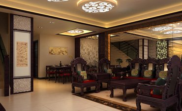 北京新古典复式楼装修,浓郁的文化气息迎面而来