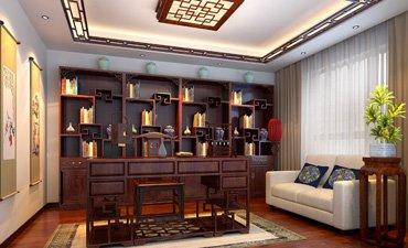 天津复式楼新中式风格设计,感受华丽的视觉盛宴