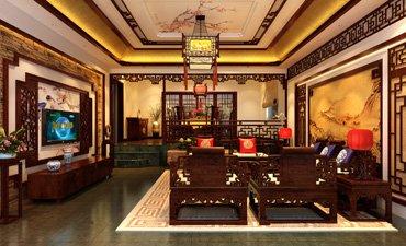 重庆复式别墅装修设计,品位高雅古韵的感官刺激
