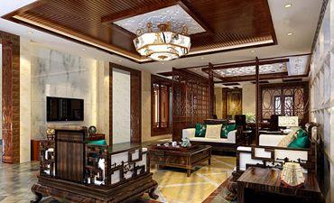泰兴四合院中式设计案例,体现高贵大气的居住氛围