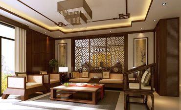 中式风格样板间效果图,简洁且蕴藏着丰厚的意蕴