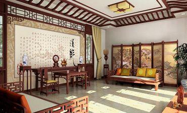 观塘别墅中式装修案例,品位古典高雅的审美格调