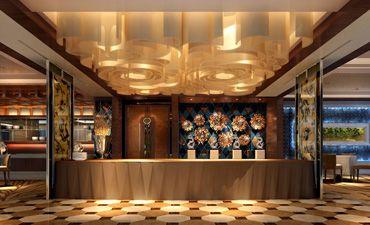 新中式风格餐厅装修,富丽堂皇造型新颖