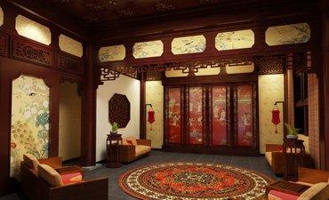 赵村四合院中式设计,奢华典雅又昭显气派