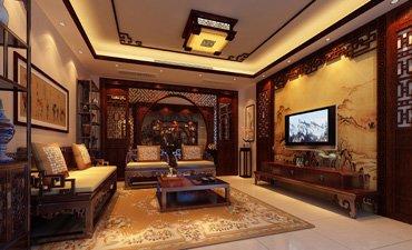 重庆古典中式装修效果图,时尚高端具备古朴温馨意蕴