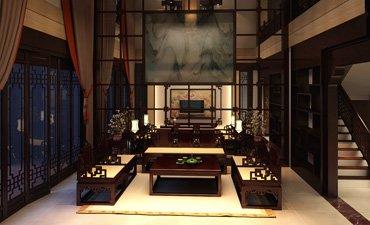 南宁古典中式风格家装设计,感受浓浓的古韵气氛