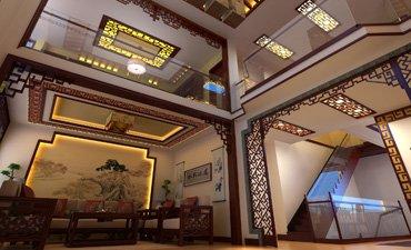 永济别墅中式装修效果图,感受高雅超凡的生活魅力