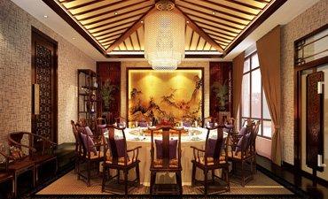 高端会所中式设计,奢华的装饰和精致的气氛
