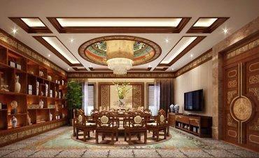 观塘别墅古典中式装修,豪华大气有大家风范