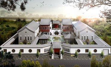 观塘四合院别墅古典风格设计,高端清雅大气恢弘