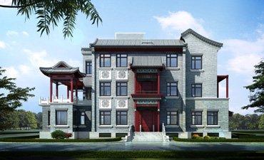 古典中式风格空中四合院别墅设计,彰显主人高贵的生活品
