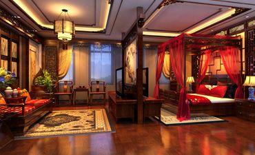 河北唐山家装中式设计效果图 高贵多古雅之风