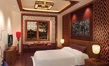 盐城别墅古典中式装修风格,格调高雅造型纯美