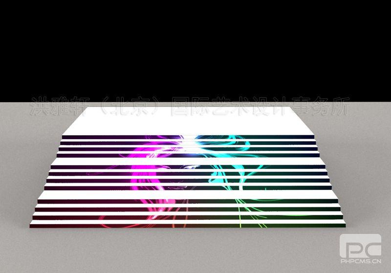 某商城台阶坡道美陈效果图2