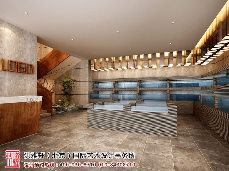 新古典中式餐厅装修一层大厅