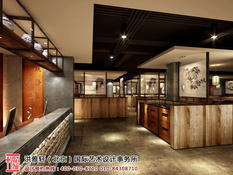 大厅新古典中式餐厅装修