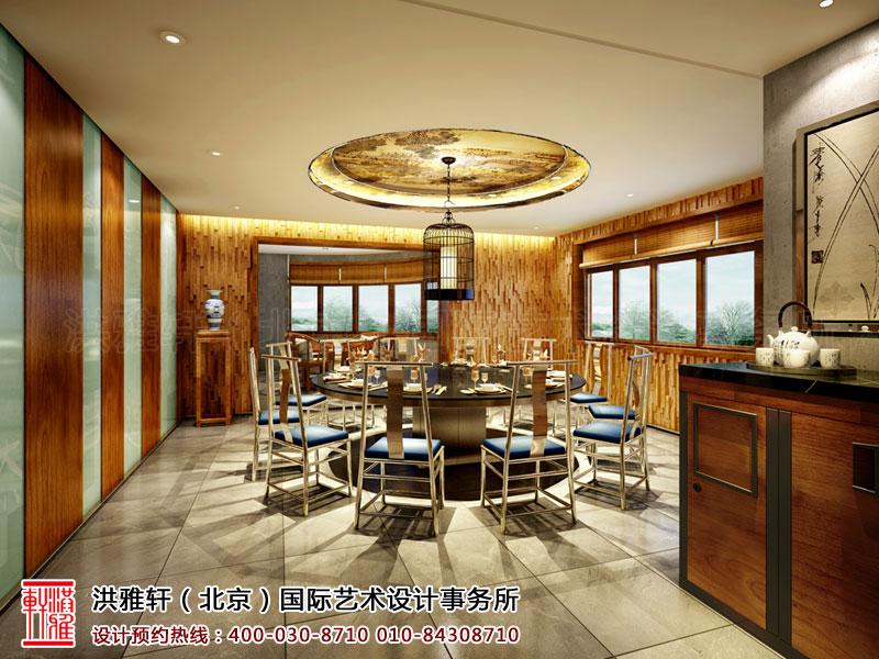 新古典中式装修餐厅包房
