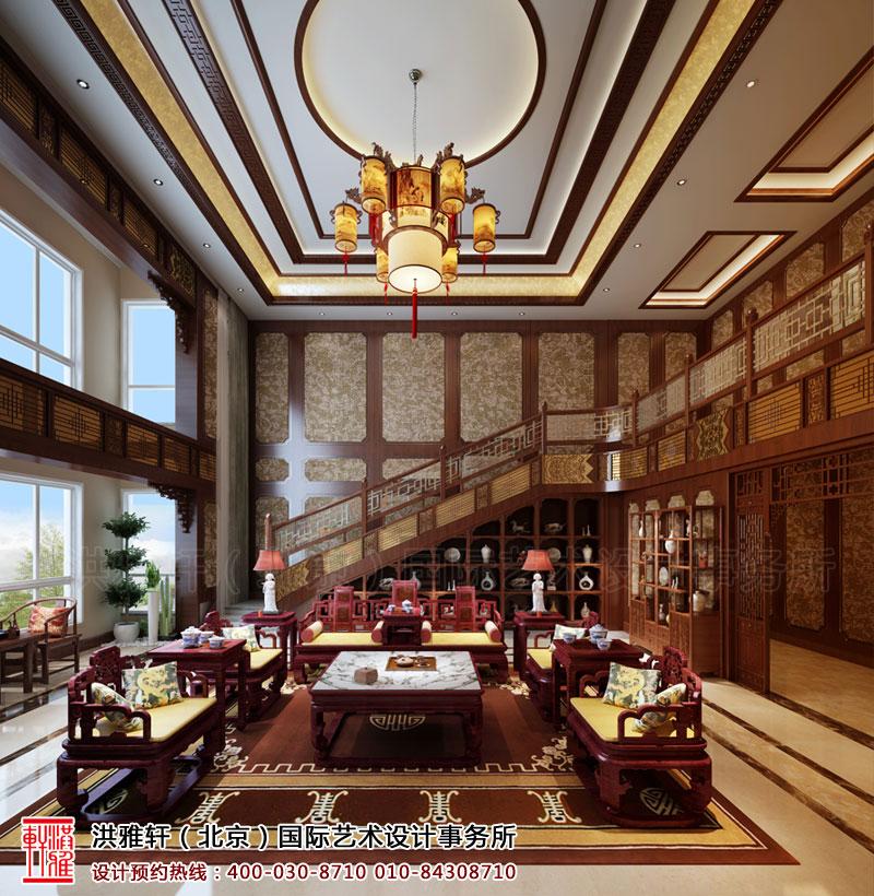 复式住宅古典中式装修客厅