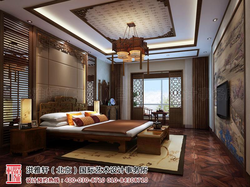 复式住宅古典中式装修卧室