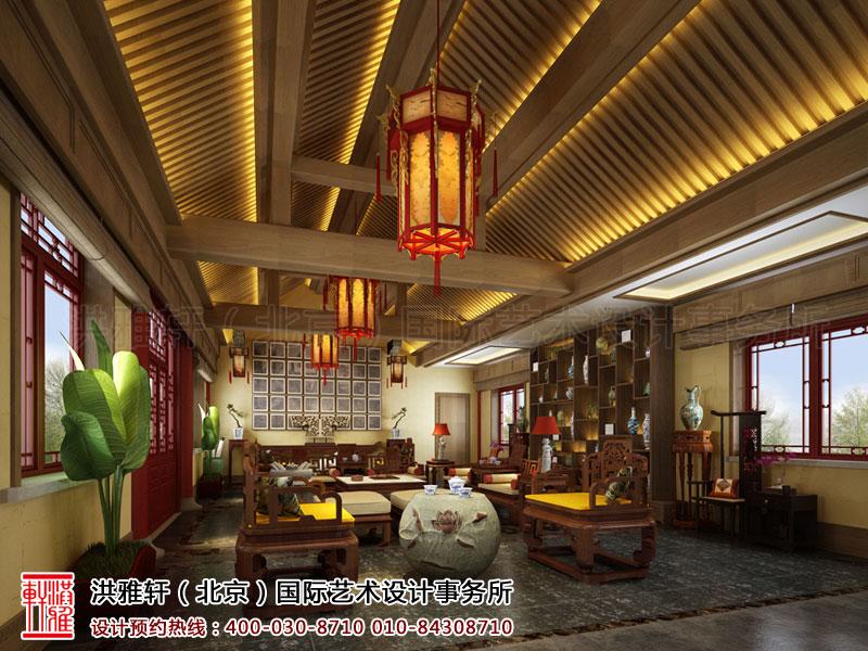 泊莲禅寺古典中式装修 二层接待室