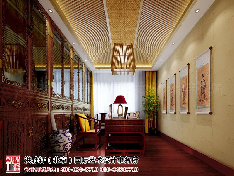 泊莲禅寺古典中式装修 书房