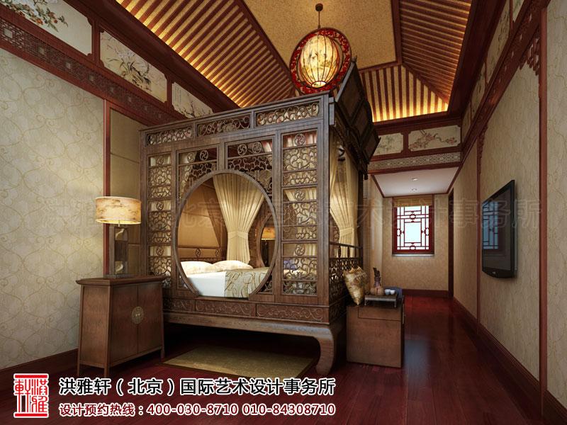 泊莲禅寺古典中式装修 卧室