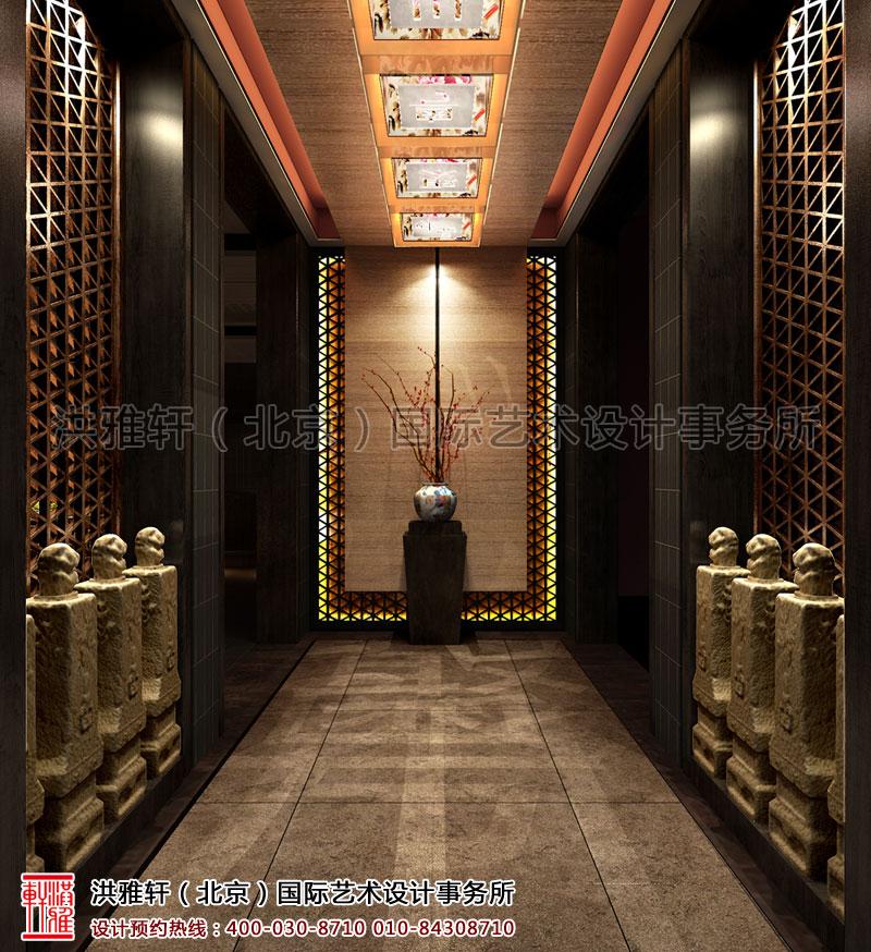 新中式餐厅装修前厅