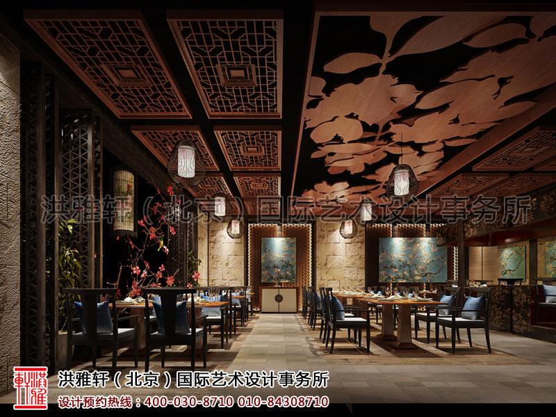 新中式餐厅装修餐区1