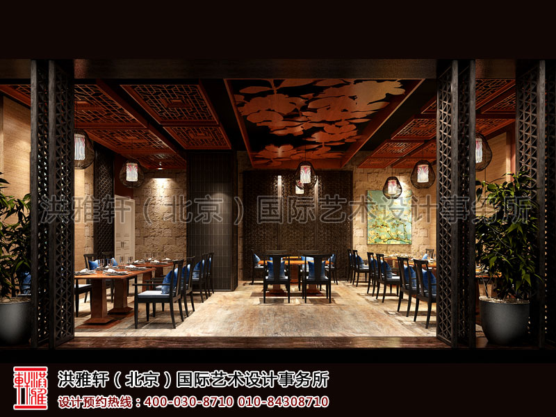 新中式餐厅装修餐区
