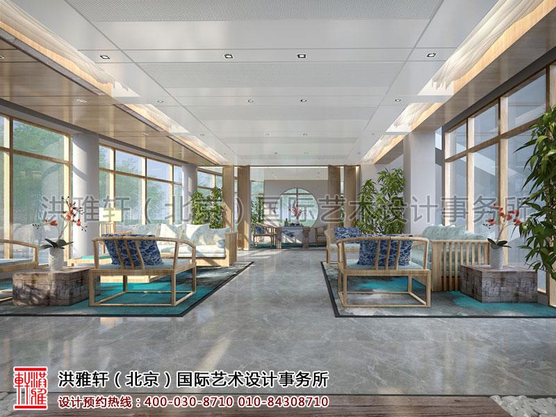 天弘基金会所中式装修一楼接待厅