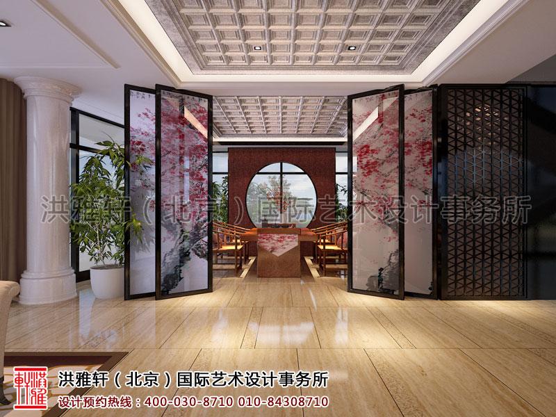 大厅茶室天弘基金会所新中式装修