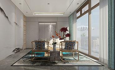 天弘基金会所新中式装修风格 绘出浮世中的一抹幽静