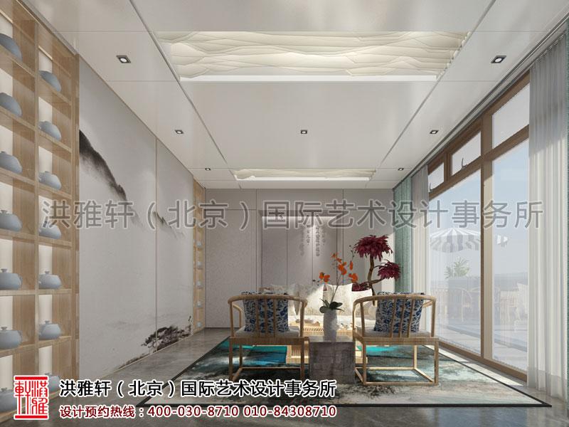 天弘基金会所新中式装修包房