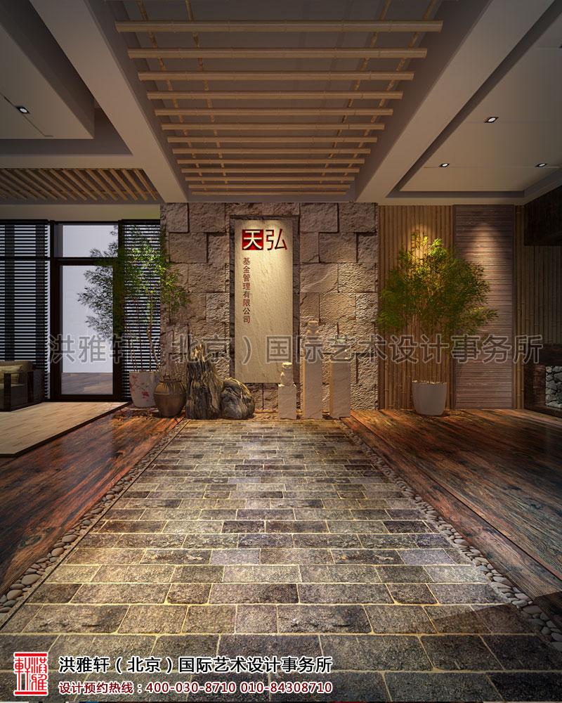 新古典天弘基金会所中式装修门厅