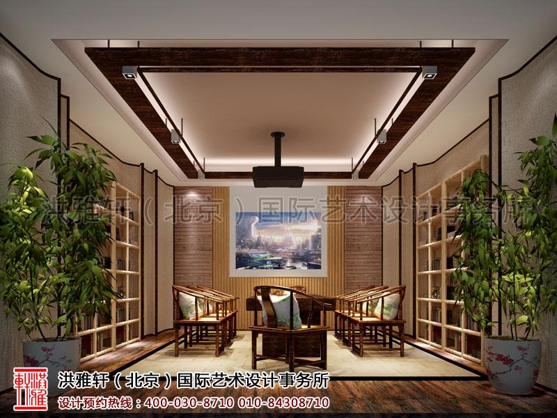 新古典天弘基金会所中式装修接待室