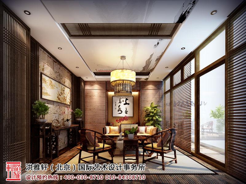 新古典中式装修天弘基金会所茶室