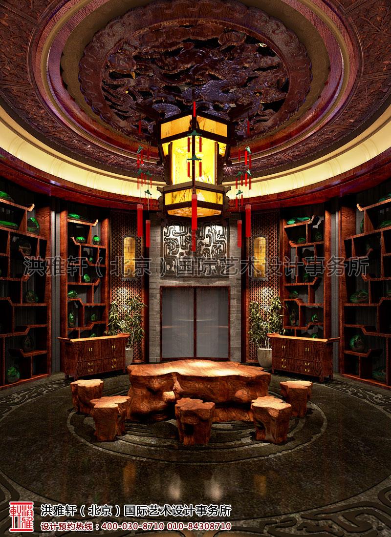 四川珠宝展厅,汉唐古典中式装修展厅