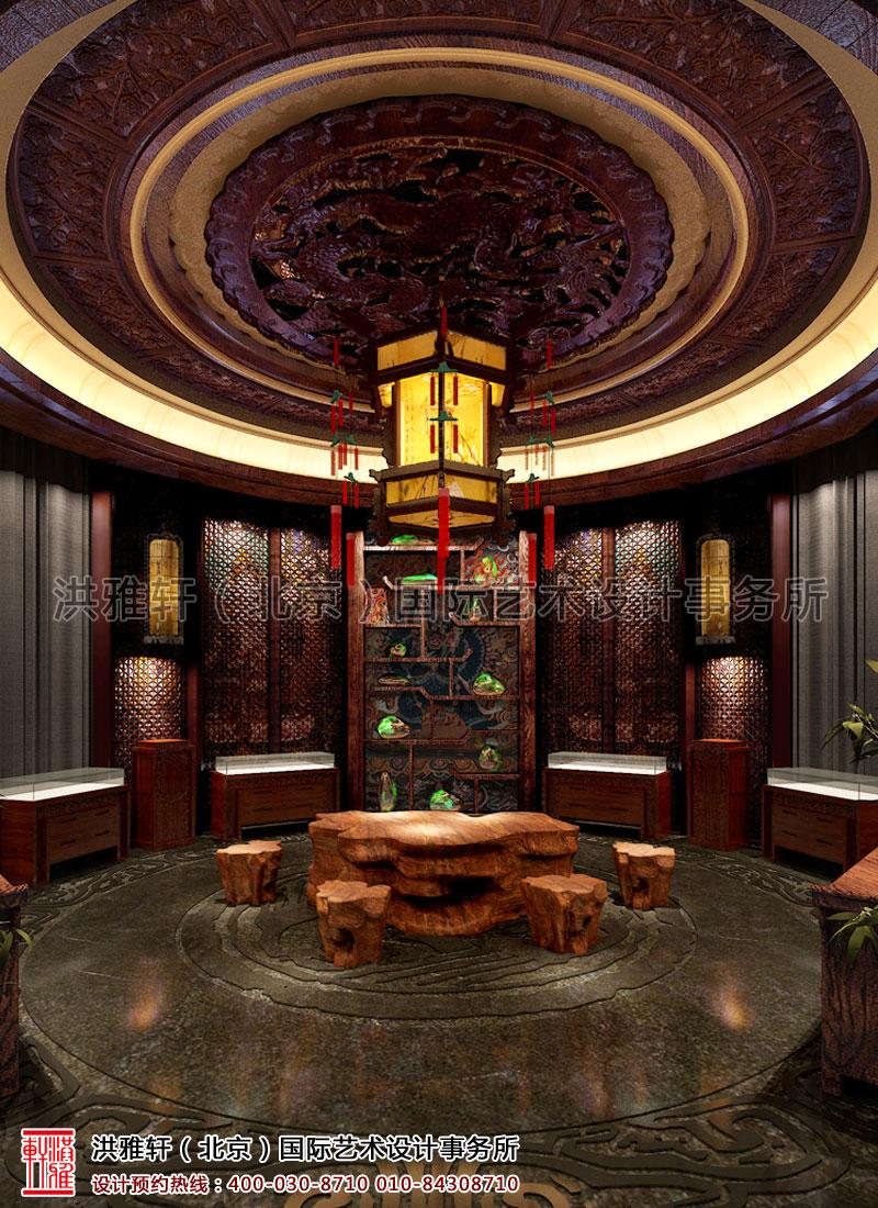 汉唐古典中式装修四川珠宝展厅