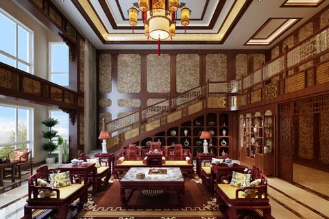 内蒙通辽别墅古典中式装修风格—浑厚干练 澄净璀璨